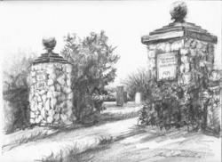 Thank you! Anne Sutherland for the beautiful skectch that graces part of the cover & frontispiece of PHC's book Tuck't In: A Walking Tour of Historic Prospect Hill Cemtery Nantucket, Massachusetts