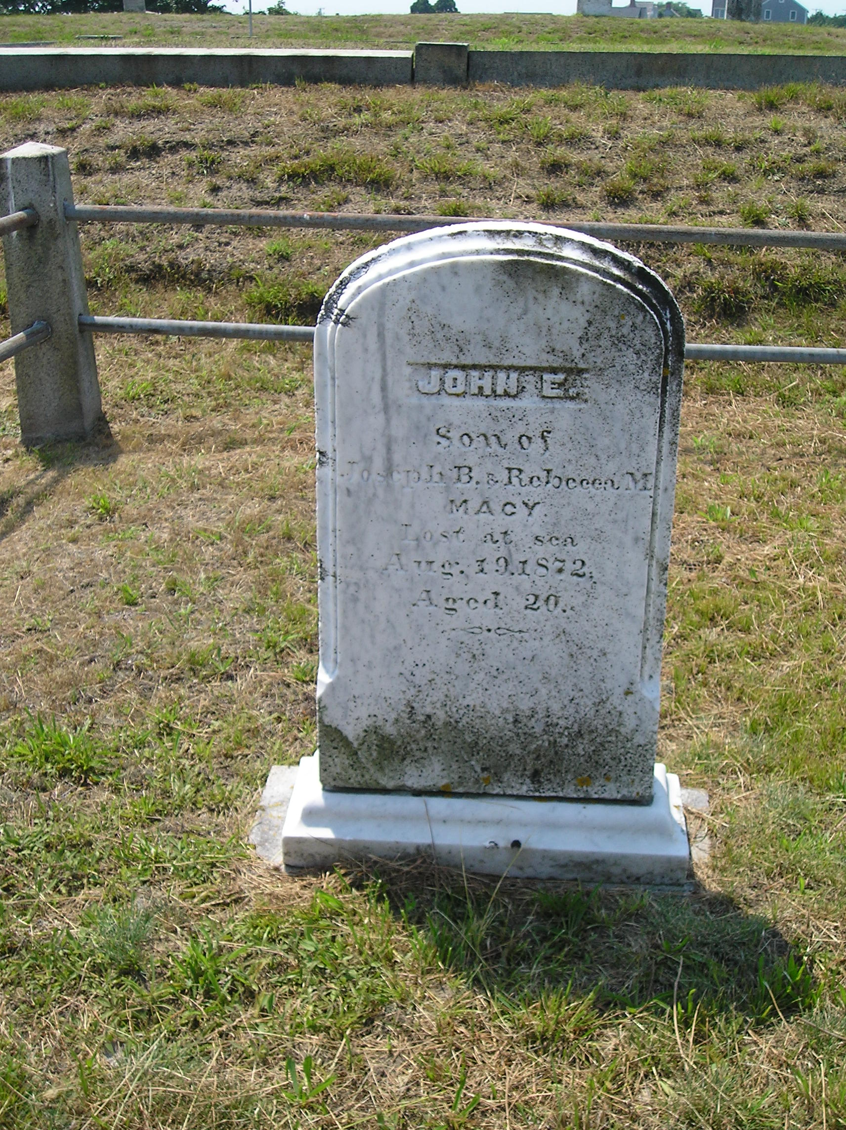 histories of persons interred at prospect hill cemetery